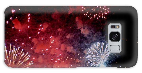 Fireworks II Galaxy Case by Kelly Hazel