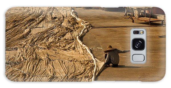 Fisherman Sewing Net Galaxy Case by Gabor Pozsgai