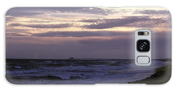 Fishing Pier Before The Storm 14a Galaxy Case by Gerry Gantt