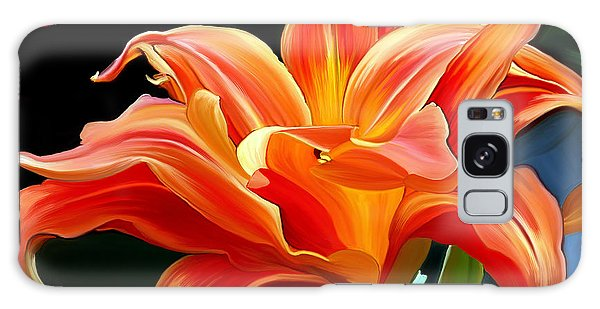 Flaming Flower Galaxy Case
