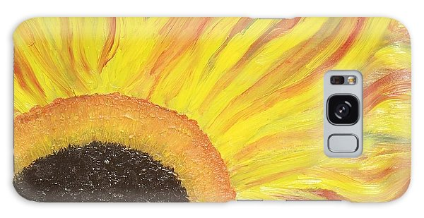 Flaming Sunflower Galaxy Case by Margaret Harmon