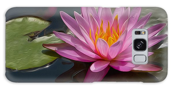 Flaming Waterlily Galaxy Case