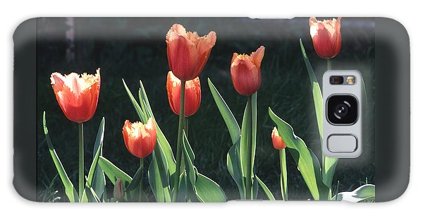 Flared Red Yellow Tulips Galaxy Case