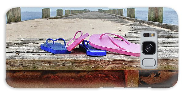 796ac25aea1235 Alabama Crimson Tide Galaxy Case - Flip Flops On The Dock by Michael Thomas