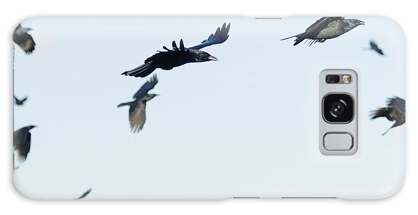 Flock Of Crows Galaxy Case