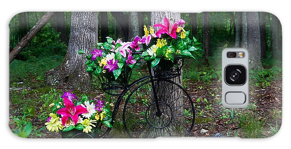 Crossville Galaxy Case - Floral Bicycle On A Cloudy Day by Douglas Barnett