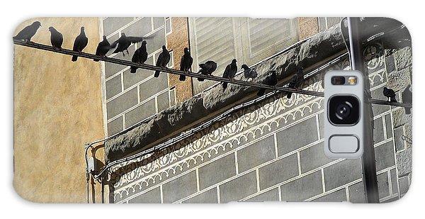 Florentine Pigeons Galaxy Case