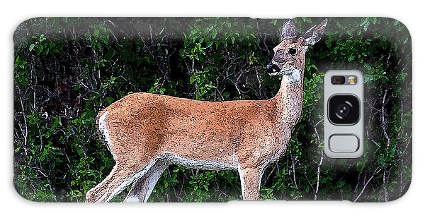 Flower Deer Galaxy Case by Steve McKinzie