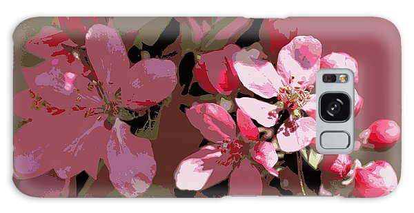 Flowering Crabapple Posterized Galaxy Case