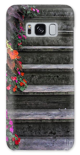 Flowers And Steps Galaxy Case by Joanne Coyle