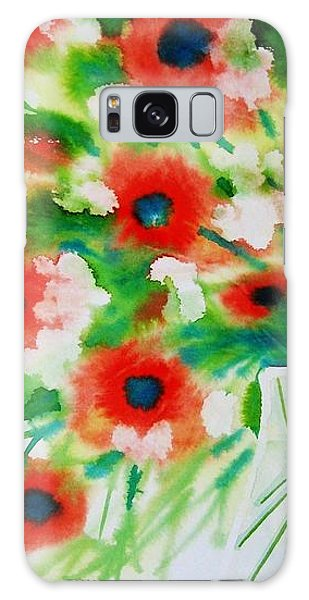 Flowers In A Glass Galaxy Case