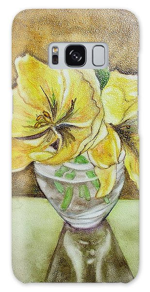 Flowers In Crystal Bowl Galaxy Case by Mary Kay Holladay