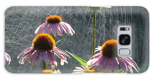 Flowers In The Rain Galaxy Case by Randy J Heath