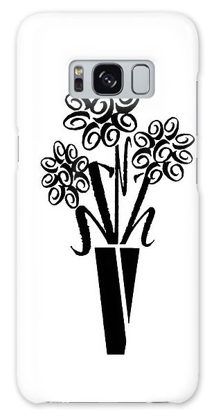 Flowers In Type Galaxy Case by Connie Fox