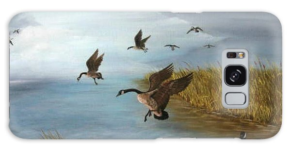 Flying Geese Galaxy Case