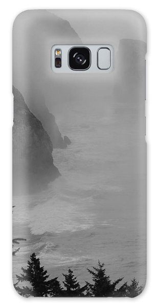 Fog And Cliffs Of The Oregon Coast Galaxy Case by Mick Anderson