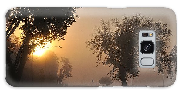 Foggy Morn Street Galaxy Case