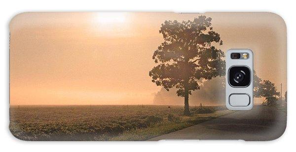 Foggy Sunrise On Soybean Field Galaxy Case