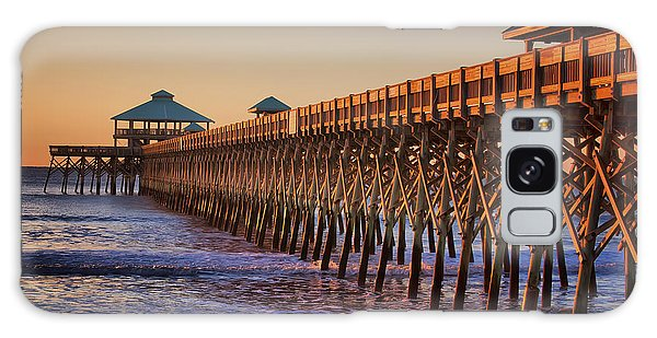 Folly Beach Pier Galaxy Case