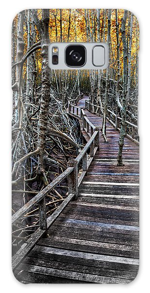 Handrail Galaxy Case - Footpath In Mangrove Forest by Adrian Evans