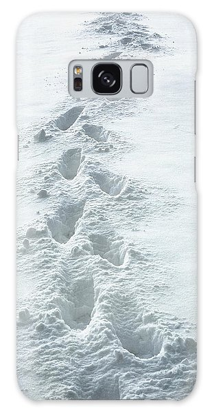 Footsteps In The Snow Galaxy Case