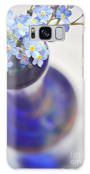 Forget Me Nots In Deep Blue Vase Galaxy Case