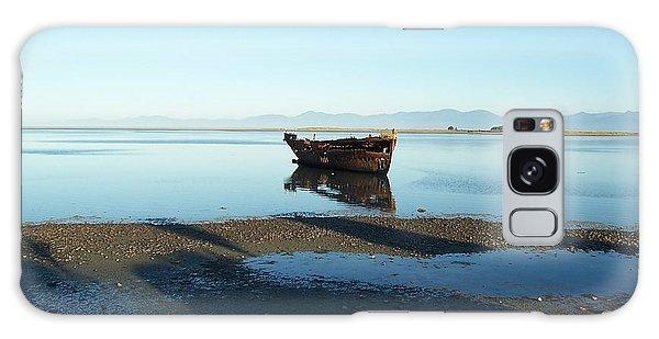 Forgotten Boat Wreck Near Motueka Galaxy Case by Peter Mooyman