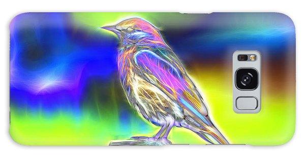 Fractal - Colorful - Western Bluebird Galaxy Case