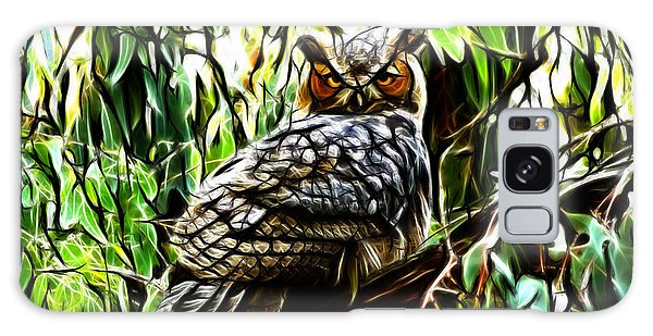 Fractal-s -great Horned Owl - 4336 Galaxy Case