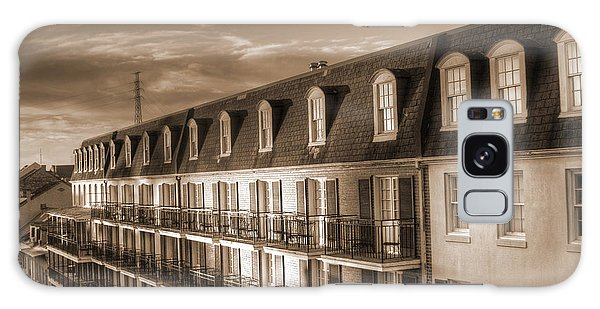 French Quarter Balconies Sepia Galaxy Case