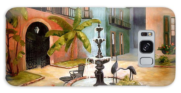 French Quarter Fountain Galaxy Case