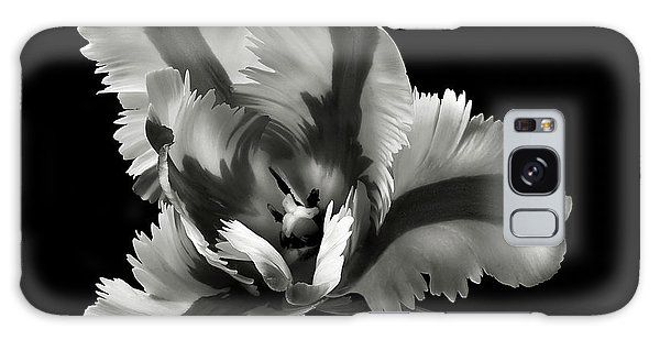 French Tulip In Black And White Galaxy Case