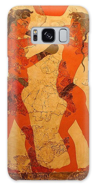 Fresco Of Boxing Children Galaxy Case by Laurel Talabere