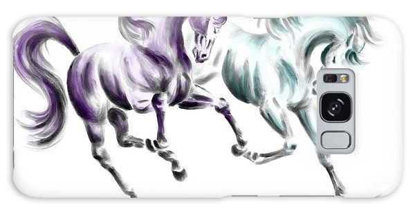 Frolicking - Wild Horses Print Color Tinted Galaxy Case