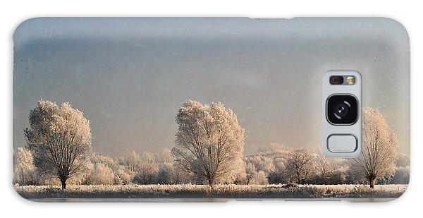 Frozen Lake Galaxy Case by Lyn Randle
