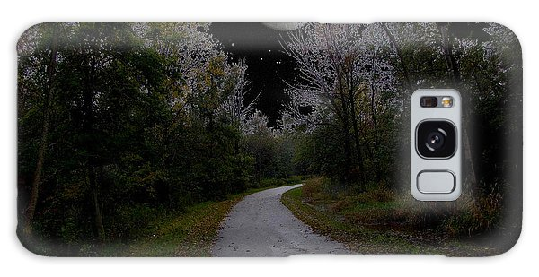 Full Moon Over Forest Trail Galaxy Case by Cedric Hampton