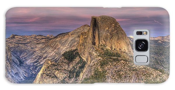 Full Moon Rise Behind Half Dome Galaxy Case