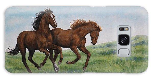 Galloping Horses Galaxy Case