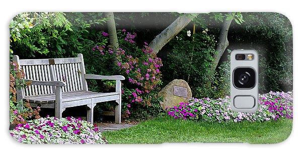 Garden Bench Galaxy Case by Michelle Joseph-Long