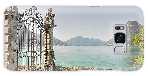 Gate On The Lake Front Galaxy Case