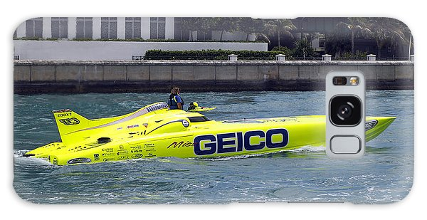 Powerboat Galaxy Case - Geico Race Boat by Rudy Umans