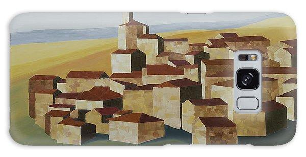 Cubist Village Spain Galaxy Case