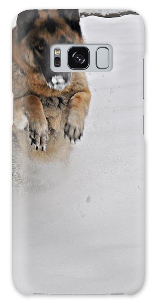 German Shepherd In The Snow 2 Galaxy Case by Tanya  Searcy