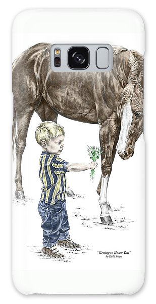 Getting To Know You - Boy And Horse Print Color Tinted Galaxy Case by Kelli Swan