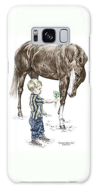 Getting To Know You - Boy And Horse Print Color Tinted Galaxy Case