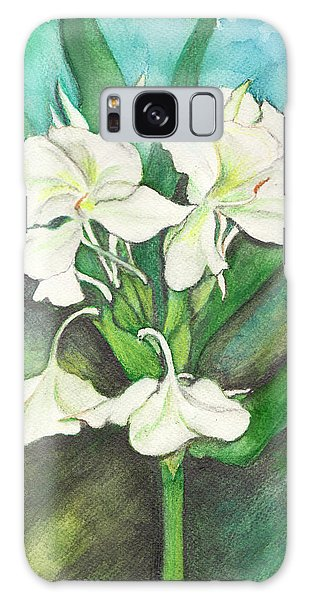 Ginger Lilies Galaxy Case by Carla Parris