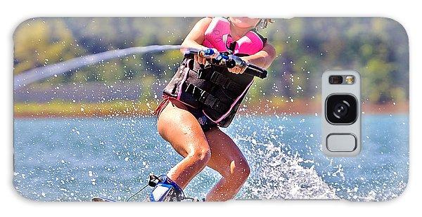 Girl Trick Skiing Galaxy Case