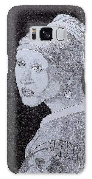 Girl With A Pearl Earring Galaxy Case - Girl With A Pearl Earring by Gerald Strine