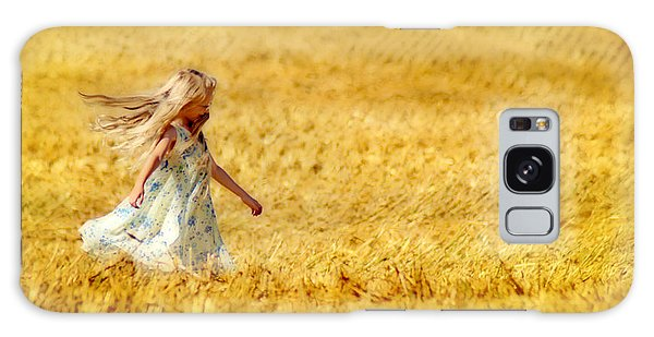 Girl With The Golden Locks Galaxy Case