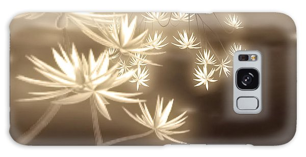 Glowing Flower Fractals Galaxy Case